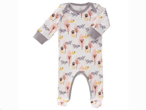 Pyjama met voet Fox pink size: newborn