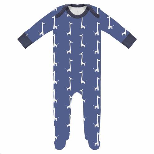 Pyjama met voet Giraf indigo blue size: 3-6 m