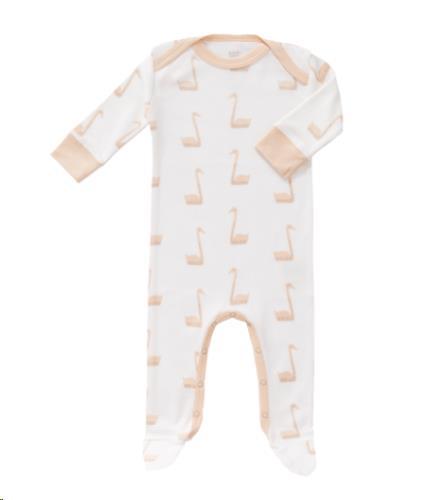 Pyjama met voet Swan pale peach size: 0-3 m