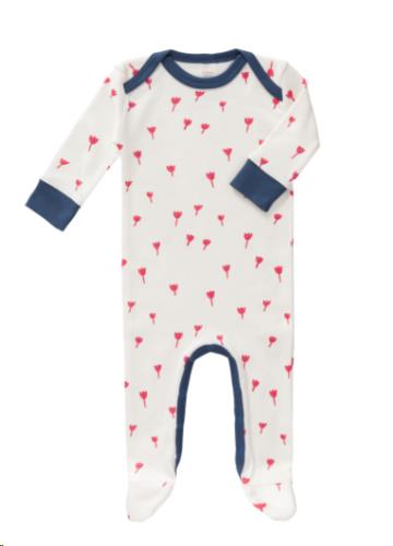 Pyjama met voet Tulip red size: 6-12 m