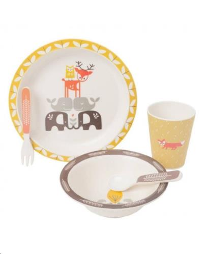 Dinner set bamboo Forest Animals