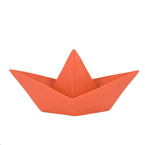 The Paper Boat Lamp - Coral Red