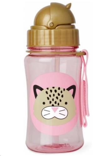 Zoo Drinkfles rietje - Leopard