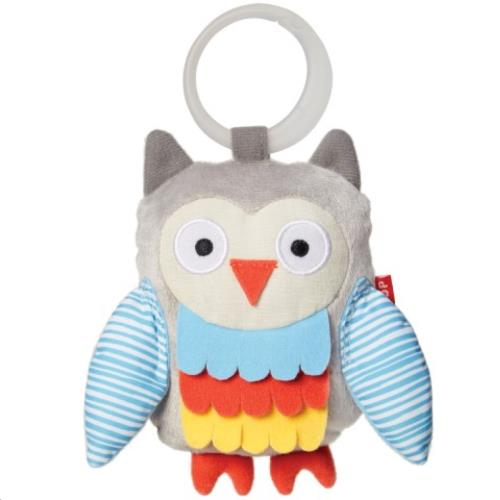 Treetop Friends Owl Stroller Toy - Grey/Pastel