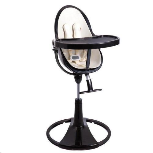 Designstoel frame zwart zonder zitting met verhoger, voetensteun, beugel, tafel