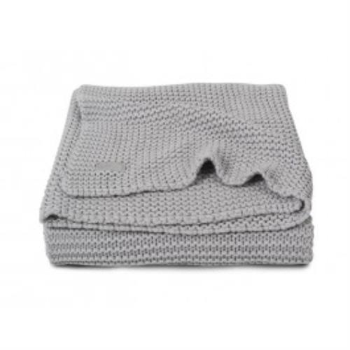 Deken 75x100cm Heavy knit light grey