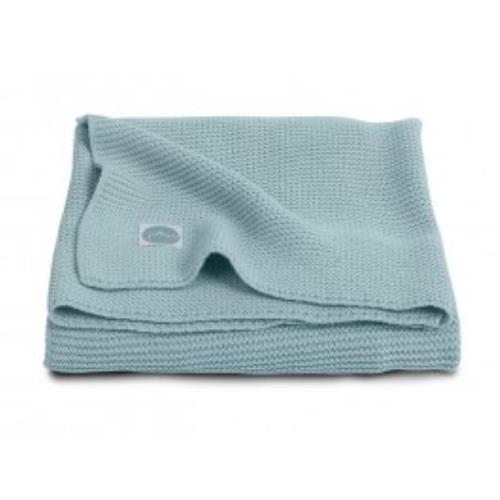 Deken 75x100cm Basic knit stone green