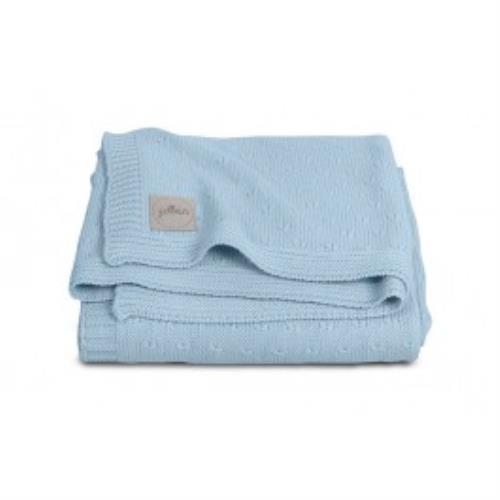Deken 75x100cm Soft knit soft blue