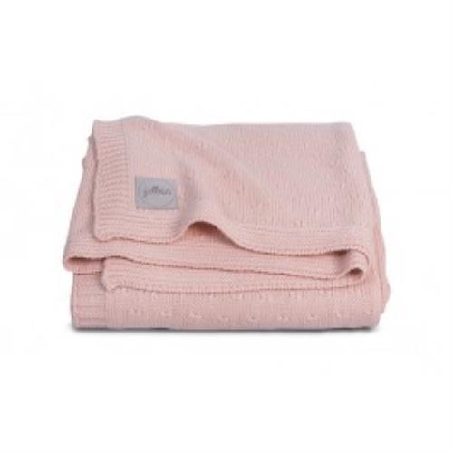 Deken 75x100cm Soft knit creamy peach