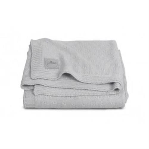 Deken 75x100cm Soft knit light grey