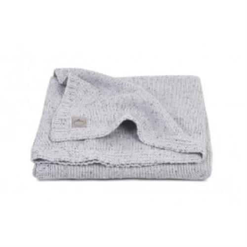 Deken 75x100cm Confetti knit grey