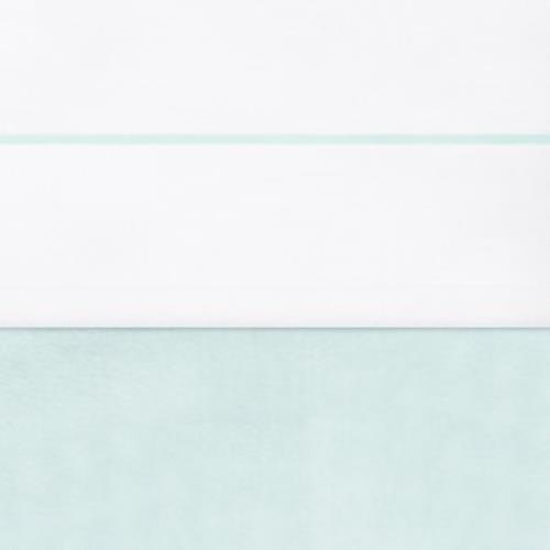 Laken 75x100cm wit met bies jade