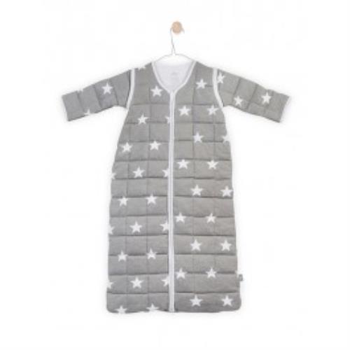 Baby slaapzak 90cm Little star grey met afritsbare mouw