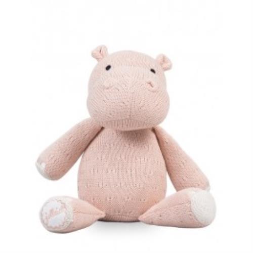 Knuffel Soft knit hippo creamy peach