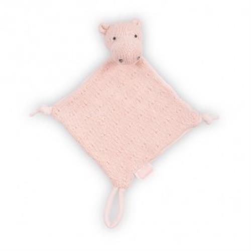 Knuffeldoekje Soft knit hippo creamy peach
