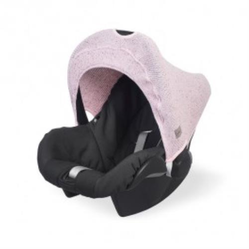 Zonnekapje 0 tot 9 maanden stoel Confetti knit vintage pink