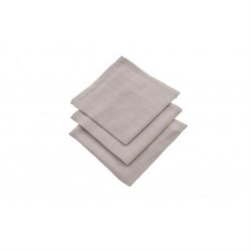 Monddoekje hydrofiel grijs (3pack)