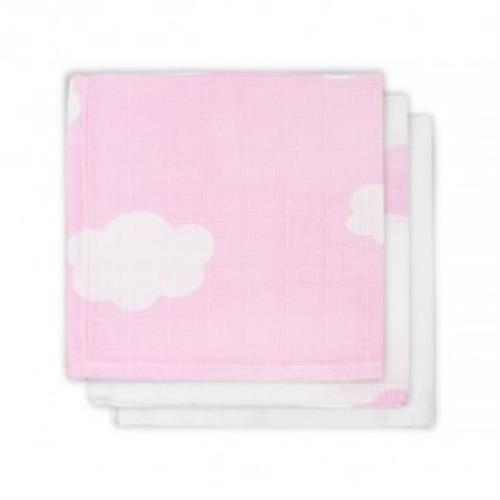 Monddoekje hydrofiel Clouds pink (3pack)