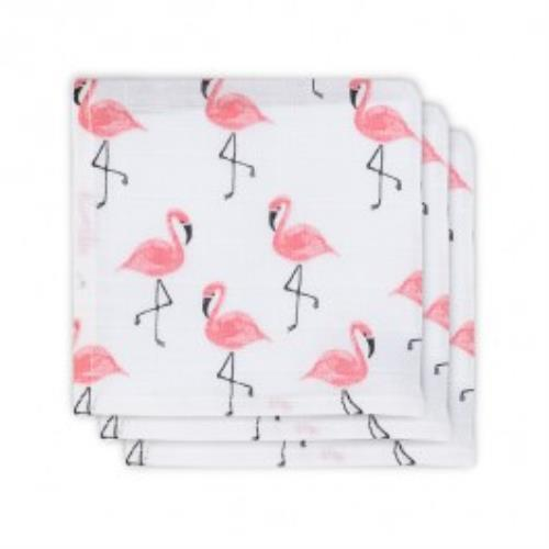 Monddoekje hydrofiel Flamingo (3pack)