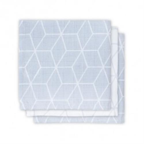 Monddoekje hydrofiel Graphic grey (3pack)
