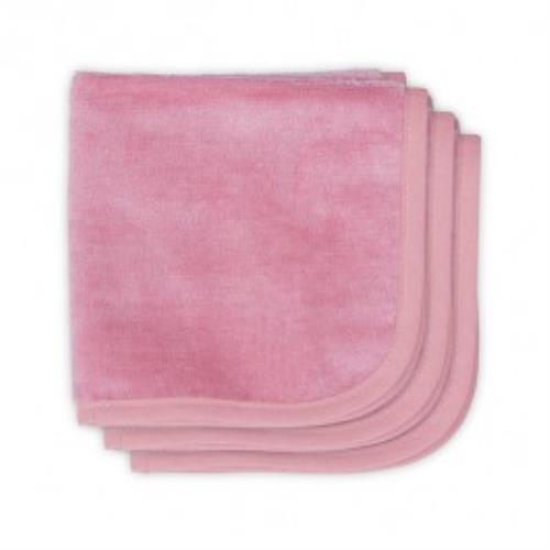 Monddoekje velvet terry 30x30cm coral pink