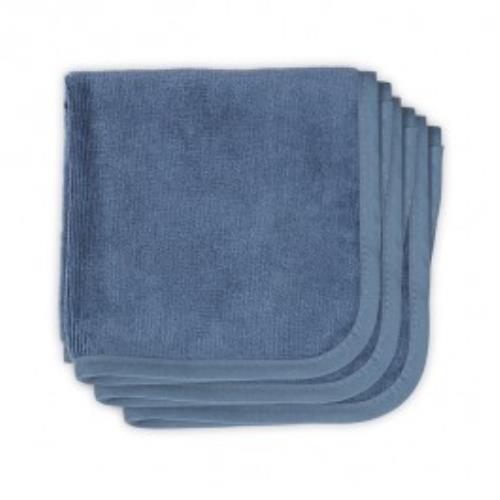 Monddoekje velvet terry 30x30cm vintage blue