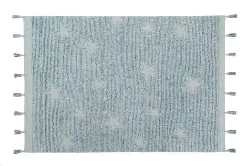 Hippy Stars Aqua Blue 120 x 175