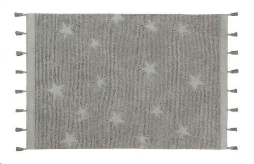 Hippy Stars Grey 120 x 175
