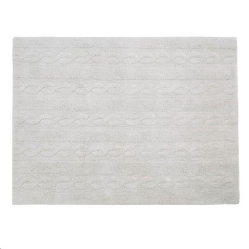 Trenzas Gris Perla / Braids Pearl Grey  80 x 120