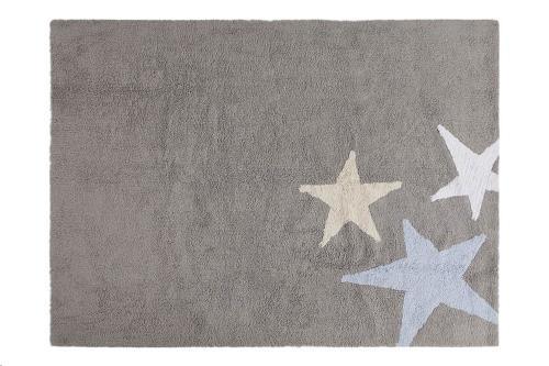 Tres Estrellas Gris-Azul / Three Stars Grey-Blue 120 x 160