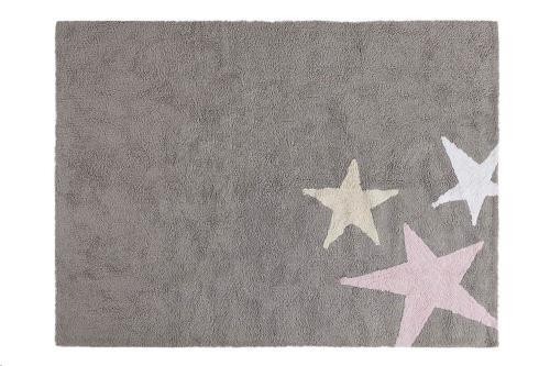 Tres Estrellas Gris-Rosa / Three Stars Grey-Pink 120 x 160