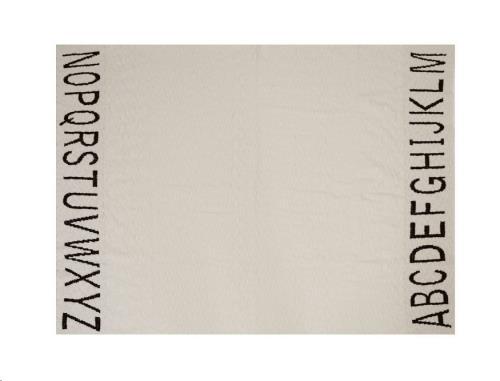Baby Blanket ABC - Natural/Black 100 x 120