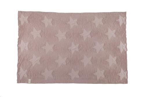 Baby Blanket Hippy Stars - Vintage Nude 90 x 120