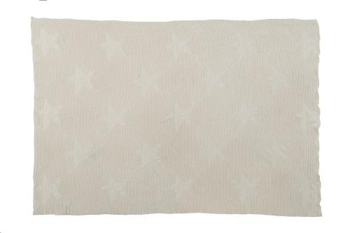 Baby Blanket Hippy Stars - Natural 90 x 120