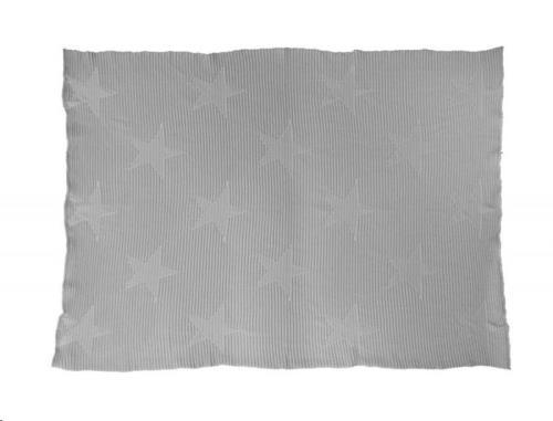 Baby Blanket Hippy Stars - Pearl Grey 90 x 120