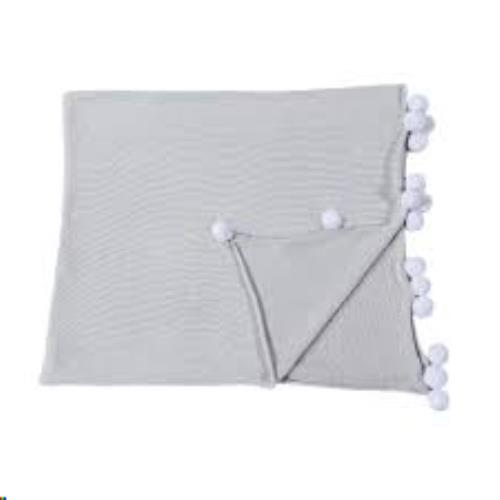 Baby Blanket Bubbly Light Grey / Manta Bebé Bubbly Gris Claro 100 x 120
