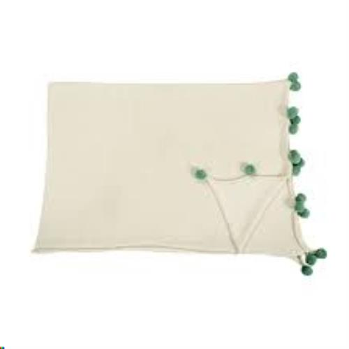 Blanket Bubbly Natural-Green / Manta Bubbly Natural-Verde 120 x 180
