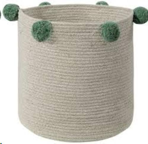 Basket Bubbly Natural-Green / Cesta Bubbly Natural-Verde 30 x Ø 30