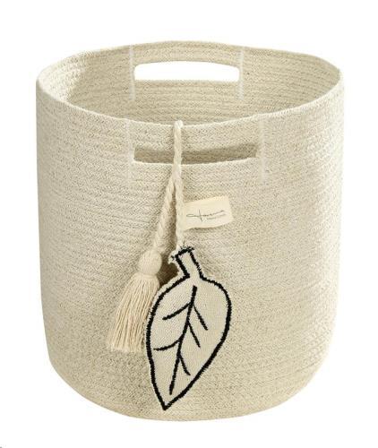 Basket Leaf Natural  30 x diameter 30