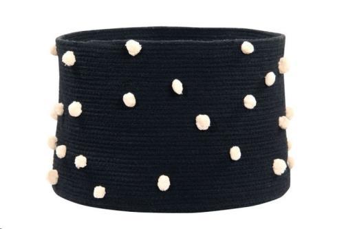 Basket Pebbles Black / Negro  30 x diameter 45