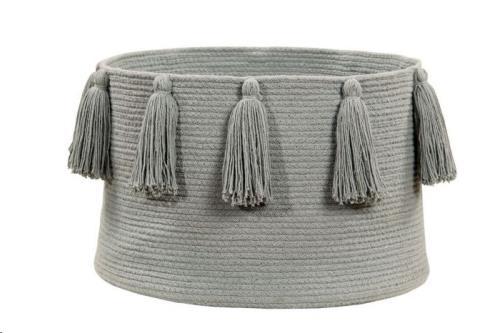 Basket Tassels Light Grey / Gris Claro 30 x diameter 45