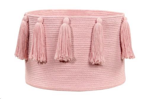 Basket Tassels Pink / Rosa 30 x diameter 45