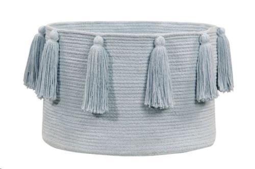 Basket Tassels Soft Blue / Azul Claro 30 x diameter 45