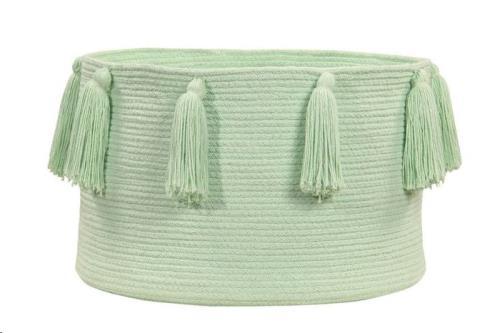 Basket Tassels Soft Mint / Menta Claro 30 x diameter 45