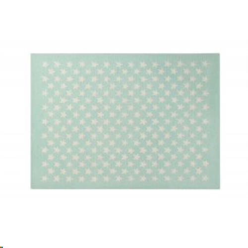 Wool Rug Little Stars Soft Mint / Alfombra Lana Little Stars Menta Claro 140 x 200