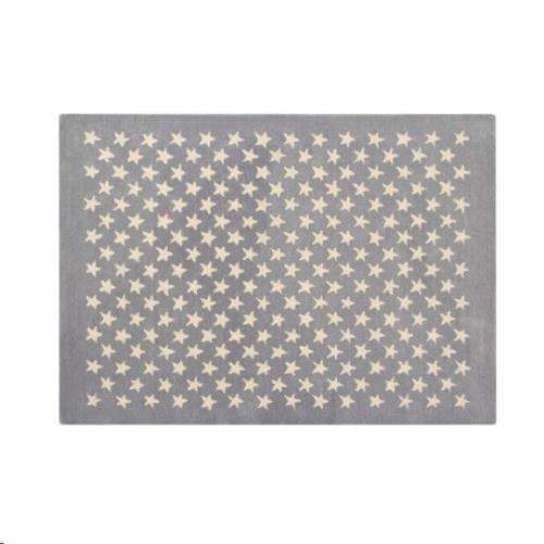 Wool Rug Little Stars Light Grey  / Alfombra Lana Little Stars Gris Claro 140 x 200