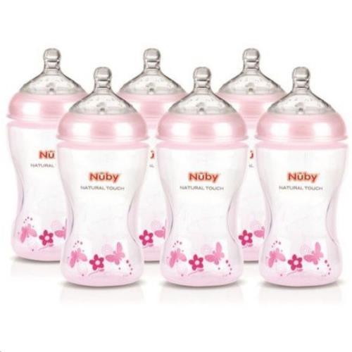 Combinatiepakket 6 Roze SoftFlex™ zuigflesjes – 1.2.3 flow - 330 ml
