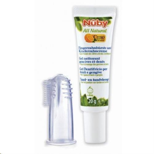 Tand- en tandvleesgel + vingertandenborsteltje - 15g - 4m+