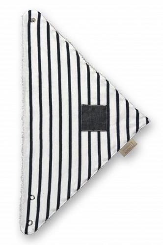 BANDANA klein met drukknoop Denim stripes