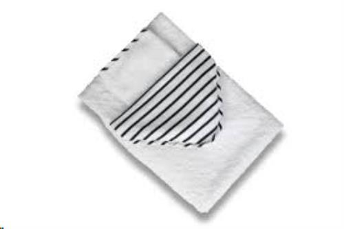 CAPE + washandje Denim stripes